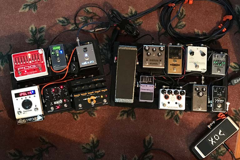Mark Hitt Pedal Board